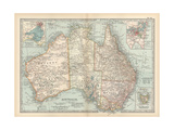 Plate 50 Map of Australia Insets of Melbourne and Port Phillip