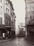 Rue De La Montagne-Sainte-Geneviève Near the Intersection of Rue Laplace  1865-69