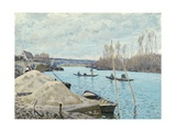 The Seine at Port-Marly  Piles of Sand  1875