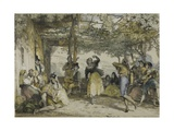 Spanish Peasants Dancing the Bolero  1836