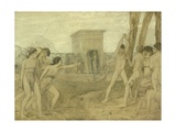 Young Spartan Girls Challenging Boys  C1860