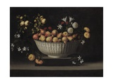 Flowers and Fruit in a China Bowl  C1645