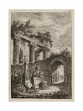 Plate Three from Evenings in Rome  1763-64