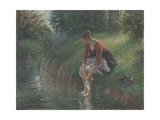 Woman Bathing Her Feet in a Brook  1894-95