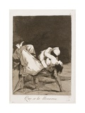 They Carried Her Off!  Plate Eight from Los Caprichos  1797-99
