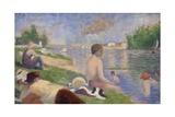 Final Study for Bathers at Asnières  1883