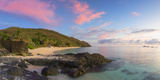 Octopus Resort and Waya Island at Sunset  Yasawa Islands  Fiji