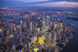 One World Trade Center and Lower Manhattan  New York City  New York  USA