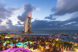 Jumeirah Beach  Burj Al Arab Hotel  Dubai  United Arab Emirates  Middle East