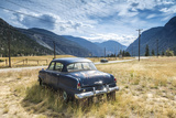 Old Abandoned American Car by Road  British Colombia  Canada
