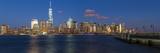 One World Trade Center and Downtown Manhattan across the Hudson River  New York  Manhattan
