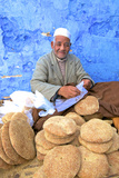 Vendor with Freshly Baked Bread  Rabat  Morocco  North Africa