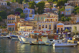 Boats in Symi Harbour  Symi  Dodecanese  Greek Islands  Greece  Europe