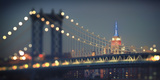 Usa  New York City  Manhattan Bridge and Empire State Building