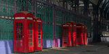 Red Telephone Boxes  Smithfield Market  Smithfield  London