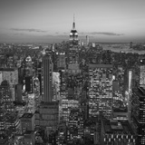 Usa  New York  Manhattan  Top of the Rock Observatory  Midtown Manhattan and Empire State Building