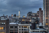 Usa  New York  Freedom Tower over Rooftops and Water Tanks