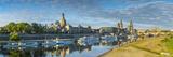 Elbe River  and City Skyline  Dresden  Saxony  Germany