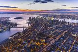 One World Trade Center  Manhattan and Brooklyn Bridges  Manhattan  New York City  New York  USA
