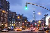 One World Trade Center from 7th Avenue  Greenwich Village  Manhattan  New York City  New York  USA