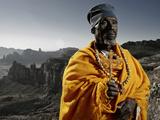 Head Priest at Debre Maryan Korkor  Tigray  Ethiopia  Africa