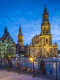 Hofkirche  Dresden  Saxony  Germany