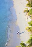 Boys Walking on Beach at Mana Island Resort  Mana Island  Mamanuca Islands  Fiji