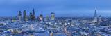 Shard and City of London Skyline  London  England