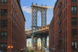 Usa  New York  Brooklyn  Dumbo  Manhattan Bridge and Empire State Building