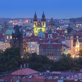 Church of Our Lady before Tyn and Old Town  Prague  Czech Republic