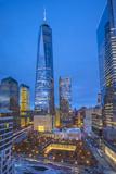 One World Trade Center and 911 Memorial  Lower Manhattan  New York City  New York  USA