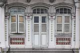 Singapore, Traditional Shophouse Architecture Papier Photo par Walter Bibikow
