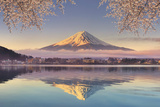Japan  Yamanashi Prefecture  Kawaguchi Ko Lake and Mt Fuji
