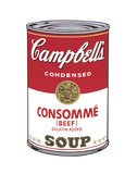 Campbell's Soup I: Consomme, 1968 Reproduction d'art par Andy Warhol