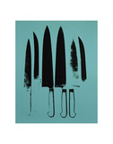 Knives, c. 1981-82 (Aqua) Reproduction d'art par Andy Warhol