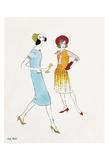Untitled (Two Female Fashion Figures), c. 1960 Reproduction d'art par Andy Warhol