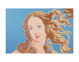 Details of Renaissance Paintings (Sandro Botticelli, Birth of Venus, 1482), 1984 (blue) Reproduction d'art par Andy Warhol