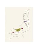 Untitled (Female Head), c. 1958 Reproduction d'art par Andy Warhol