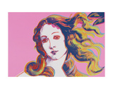 Details of Renaissance Paintings (Sandro Botticelli, Birth of Venus, 1482), 1984 (pink) Reproduction d'art par Andy Warhol