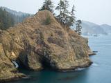 Natural Bridge at Coast  Thunder Cove  Oregon Coast  Brookings  Curry County  Oregon  Usa