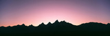 Silhouette of the Teton Range at Sunset  Grand Teton National Park  Wyoming  Usa