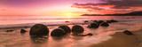 Moeraki Boulders on the Beach at Sunrise, Moeraki, Otago Region, South Island, New Zealand Papier Photo par Panoramic Images