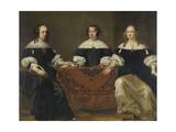 Portrait of the Three Regentesses of the Leprozenhuis  Amsterdam
