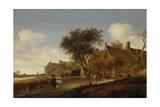 A Village Inn with Stagecoach  Salomon Van Ruysdael