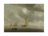 Sailing Vessels on a Inland Body of Water