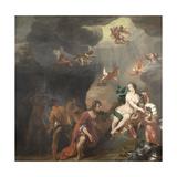 Aeneas Receiving a New Set of Armour from Venus
