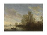 River View Near Deventer  Salomon Van Ruysdael