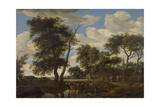 View of a Village  Salomon Van Ruysdael