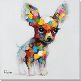 Chillin Chihuahua Hand Embellished Art