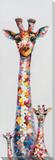 Polka-Dotted Giraffe Trio Hand Embellished Art